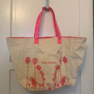 JUICY COUTURE BEACH BAG CANVAS OUTER. NEW  NOTAGS